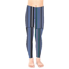 Shades Of Blue Stripes Striped Pattern Kids  Legging