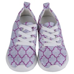 Tile1 White Marble & Purple Glitter (r) Kids  Lightweight Sports Shoes