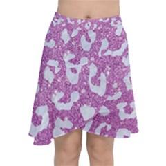 Skin5 White Marble & Purple Glitter (r) Chiffon Wrap