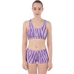 Skin4 White Marble & Purple Glitter Work It Out Gym Set