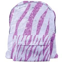 Skin3 White Marble & Purple Glitter (r) Giant Full Print Backpack