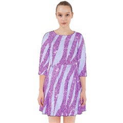 Skin3 White Marble & Purple Glitter Smock Dress