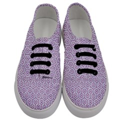 Hexagon1 White Marble & Purple Glitter (r) Men s Classic Low Top Sneakers