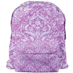 Damask1 White Marble & Purple Glitter Giant Full Print Backpack by trendistuff