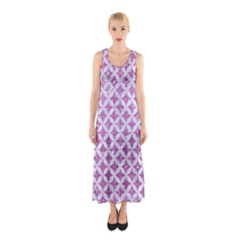 Circles3 White Marble & Purple Glitter Sleeveless Maxi Dress