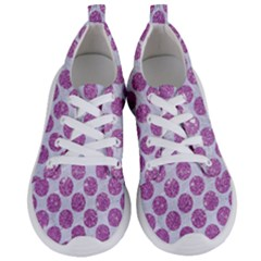 Circles2 White Marble & Purple Glitter (r) Women s Lightweight Sports Shoes