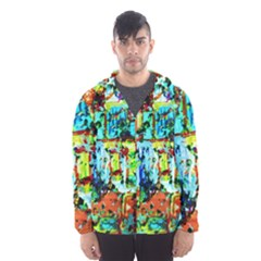 Birds   Caged And Free Hooded Wind Breaker (men)