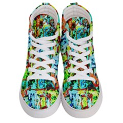 Birds   Caged And Free Women s Hi Top Skate Sneakers