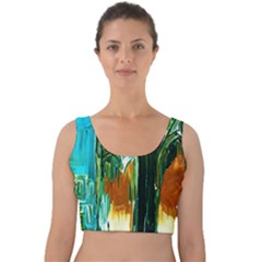 Ceramics Of Ancient Land 2 Velvet Crop Top