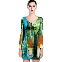 Ceramics Of Ancient Land 2 Long Sleeve Bodycon Dress