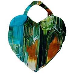Ceramics Of Ancient Land 2 Giant Heart Shaped Tote by bestdesignintheworld