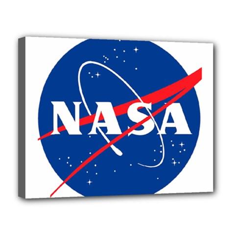 Nasa Logo Canvas 14  X 11