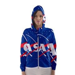 Nasa Logo Hooded Wind Breaker (women)