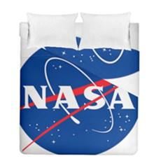 Nasa Logo Duvet Cover Double Side (full/ Double Size)