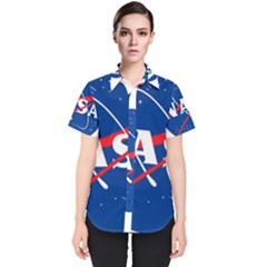 Nasa Logo Women s Short Sleeve Shirt