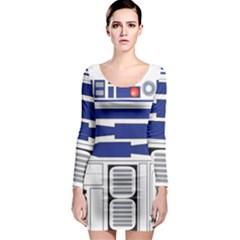 R2 Series Astromech Droid Long Sleeve Bodycon Dress