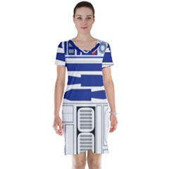 R2 Series Astromech Droid Short Sleeve Nightdress by Samandel