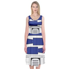 R2 Series Astromech Droid Midi Sleeveless Dress