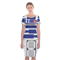 R2 Series Astromech Droid Classic Short Sleeve Midi Dress