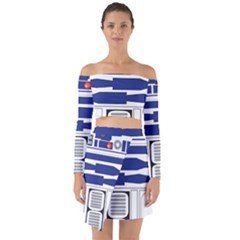 R2 Series Astromech Droid Off Shoulder Top With Skirt Set