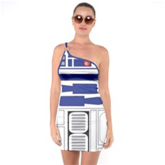 R2 Series Astromech Droid One Soulder Bodycon Dress