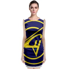 Sukhoi Classic Sleeveless Midi Dress