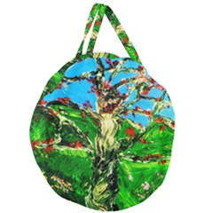 Coral Tree 2 Giant Round Zipper Tote