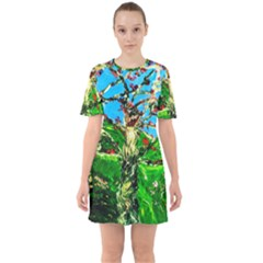 Coral Tree 2 Sixties Short Sleeve Mini Dress