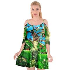 Coral Tree 2 Cutout Spaghetti Strap Chiffon Dress
