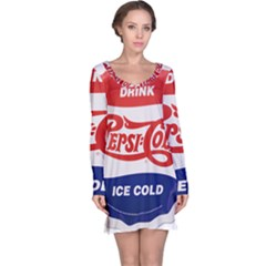 Pepsi Cola Bottle Cap Style Metal Long Sleeve Nightdress
