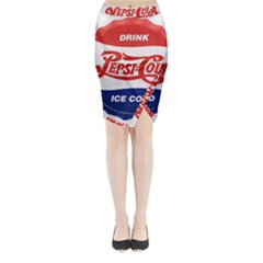 Pepsi Cola Bottle Cap Style Metal Midi Wrap Pencil Skirt