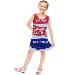 Pepsi Cola Bottle Cap Style Metal Kids  Tunic Dress