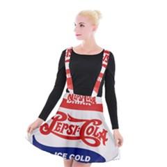 Pepsi Cola Bottle Cap Style Metal Suspender Skater Skirt