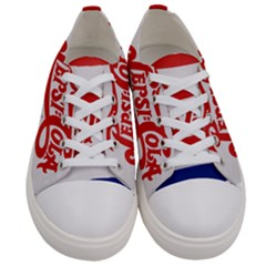Pepsi Cola Bottle Cap Style Metal Women s Low Top Canvas Sneakers