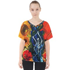 1 Butterfly 1 V Neck Dolman Drape Top