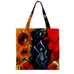 1 Butterfly 1 Zipper Grocery Tote Bag