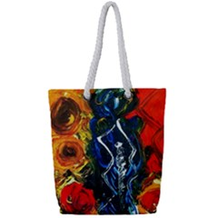 1 Butterfly 1 Full Print Rope Handle Tote (small)