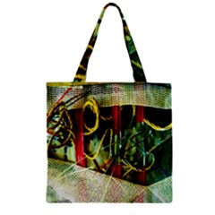 Hidden Strings Of Purity 13 Zipper Grocery Tote Bag