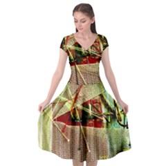 Hidden Strings Of Purity 12 Cap Sleeve Wrap Front Dress