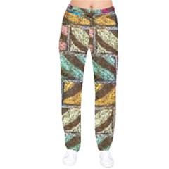 Colorful Painted Bricks Street Art Kits Art Velvet Drawstring Pants