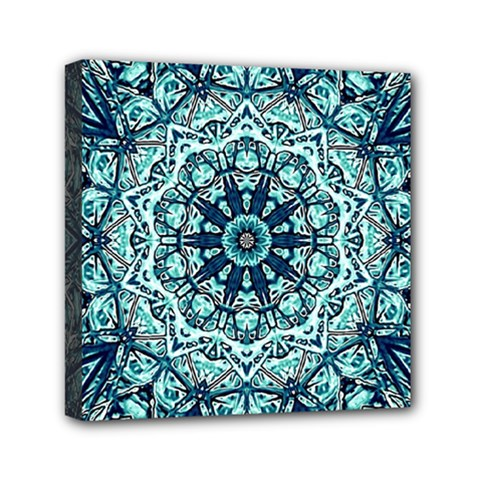 Green Blue Black Mandala  Psychedelic Pattern Canvas Travel Bag