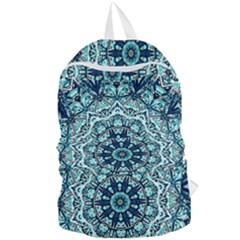Green Blue Black Mandala  Psychedelic Pattern Foldable Lightweight Backpack by Costasonlineshop