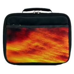 Black Yellow Red Sunset Lunch Bag by Costasonlineshop