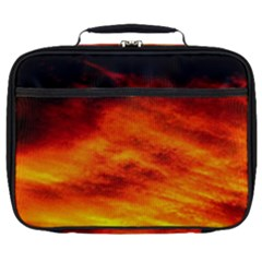 Black Yellow Red Sunset Full Print Lunch Bag by Costasonlineshop