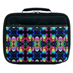 Colorful Bright Seamless Flower Pattern Lunch Bag by Costasonlineshop