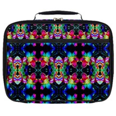 Colorful Bright Seamless Flower Pattern Full Print Lunch Bag