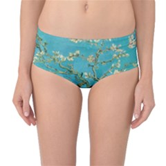 Almond Blossom  Mid Waist Bikini Bottoms