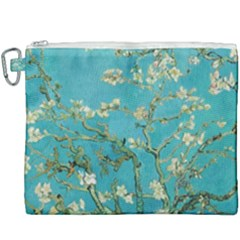 Almond Blossom  Canvas Cosmetic Bag (xxxl) by Valentinaart