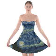 The Starry Night  Strapless Bra Top Dress