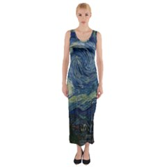 The Starry Night  Fitted Maxi Dress